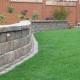 Stacked Stone Retaining Wall