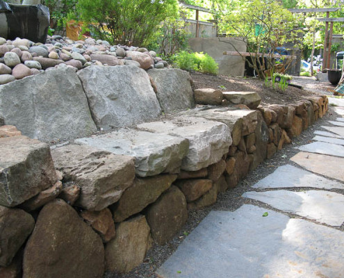 Side Yard Solutions - Stone Bench