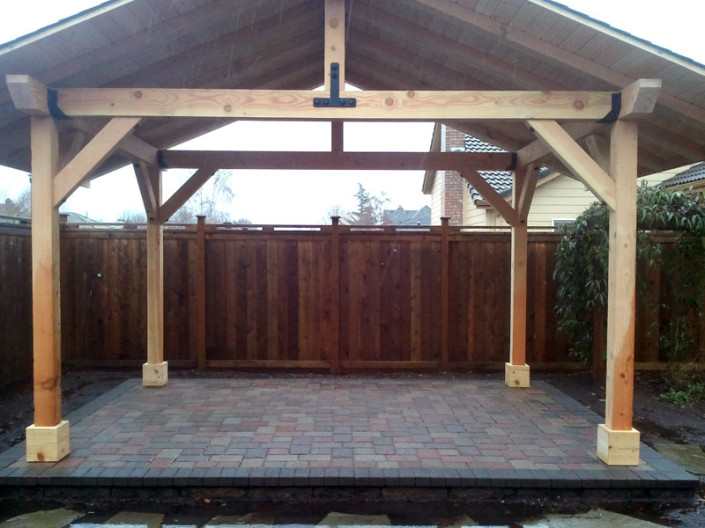 Wood Structures - Dominion Landscape - Eugene, Springfield OR