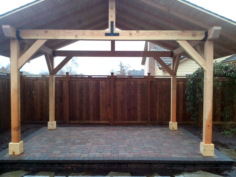 Patio Cover - Outdoor Wood Structures - Dominion Landscape - Eugene, Springfield OR.