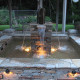 Outdoor Lighting on fountain