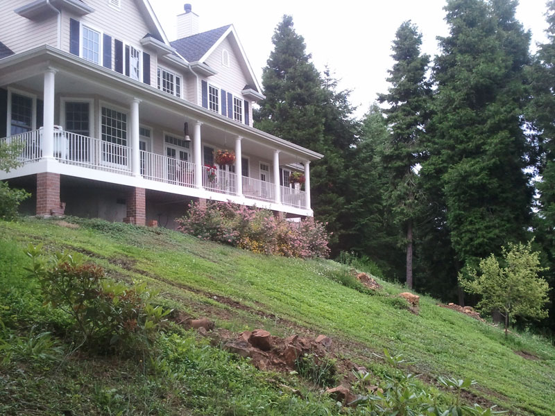 Dramatic Slope Repair Before Picture